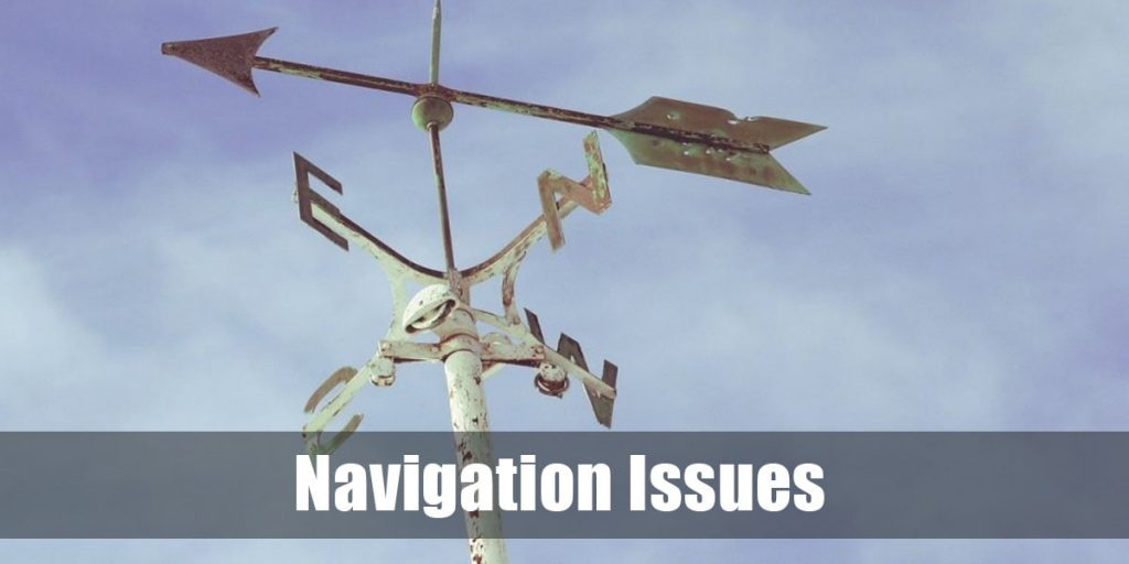navigation issues