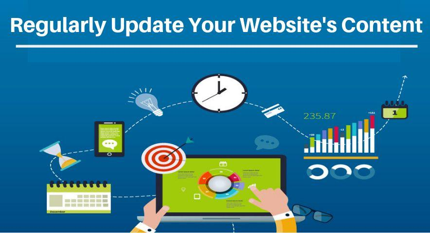 Regularly Update Your website's content
